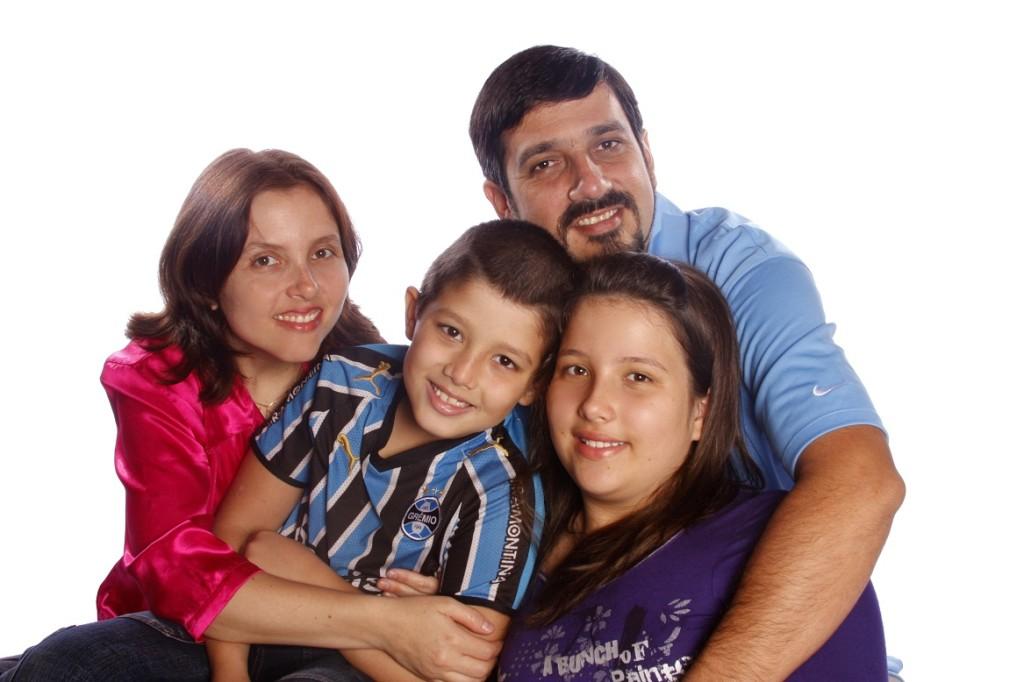 Pastor Paulo Cabral e sua família